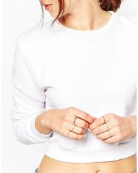 ASOS - Metallic 12 Pack Fine Rings With Ball Detail - Lyst