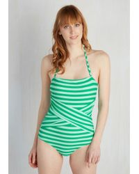 Downeast Basics - Blue Down For A Dip One-piece Swimsuit In Peacock - Lyst