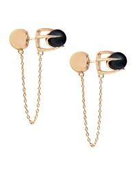 Colette Malouf | Metallic Pearl Stud Ear Chain | Lyst
