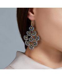 Miguel Ases | Gray Grey Hematite Chandelier Earrings | Lyst