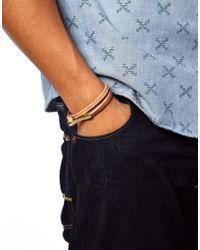 Stussy | Brown Hook Leather Wrap Bracelet for Men | Lyst