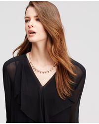 Ann Taylor - Metallic Spiked Crystal Necklace - Lyst