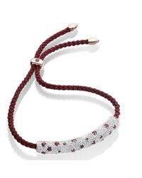 Monica Vinader | Metallic Esencia Diamond Pave Friendship Bracelet | Lyst