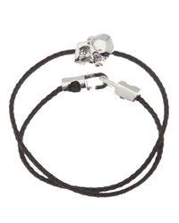 Luis Morais - Black Wraparound Skull Bracelet for Men - Lyst