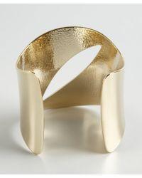 Adia Kibur - Metallic Gold Metal Cut Out Flexible Cuff - Lyst