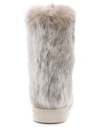Tory Burch - Natural Anjelica Suede Fur Boots - Lyst