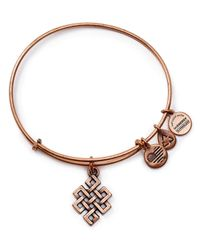 ALEX AND ANI | Pink Endless Knot Rose Gold Tone Wire Bangle - Bloomingdale's Exclusive | Lyst