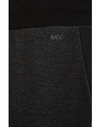 HUGO - Black Regular Fit Tracksuit Bottoms In Cotton: 'debraska' for Men - Lyst