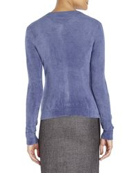 Roberto Collina - Blue Plush Knit Cardigan - Lyst