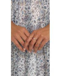 Zoe Chicco - Metallic Open Tiny Diamond Ring - Gold/clear - Lyst