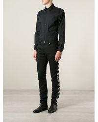 Saint Laurent - Black Concho Detail Jeans for Men - Lyst