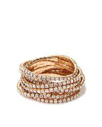 Forever 21 | Metallic Rhinestoned Bracelet Set | Lyst