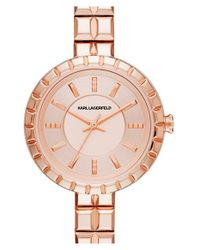 Karl Lagerfeld | Metallic 'geometrik' Bracelet Watch | Lyst