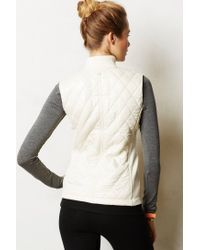 Anthropologie - White Quilted Puffer Vest - Lyst