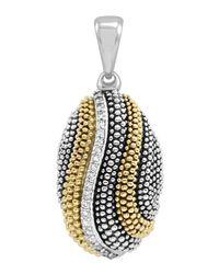 Lagos - Metallic Soiree Caviar Diamond Wave Pendant - Lyst