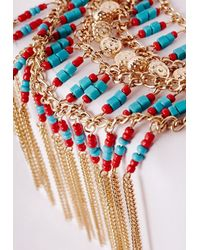 Missguided - Multicolor Statement Fringed Festival Necklace Multi - Lyst