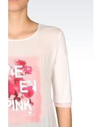 Armani Jeans - White Sweatshirt In Jersey - Lyst