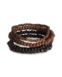 H&M - Brown 6pack Bracelets for Men - Lyst