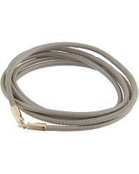 Luis Morais | Gray Leather Wrap Bracelet | Lyst