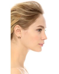 Rachel Zoe Multicolor Safari Mini Crescent Stud Earrings