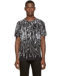 DIESEL - Black Zipper Print T-meza T-shirt for Men - Lyst