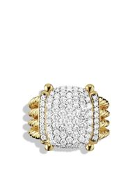David Yurman | Yellow Wheaton Ring With Diamonds In Gold | Lyst