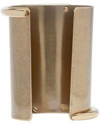 Lanvin   Metallic Brass And Crystal Asymmetric Cuff   Lyst