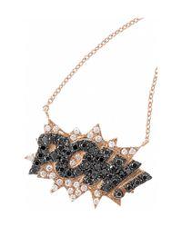 Diane Kordas - Black Pow 18-Karat Rose Gold Diamond Necklace - Lyst