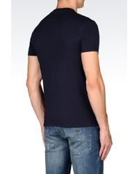 Armani Jeans | Blue T-shirt In Jersey for Men | Lyst