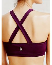 Free People - Purple Bandeau Bra - Lyst