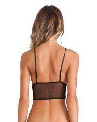 b012b3323f Lyst - Bella Luxx Lace Cami Bralette in Black