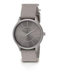 Versus - Gray Less Aluminum Grey Woven Strap Watch - Lyst