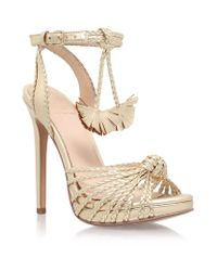 KG by Kurt Geiger - Natural Hoax Knotted Sandal - Lyst