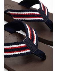 Forever 21 - Blue Stripe Flip-flops for Men - Lyst