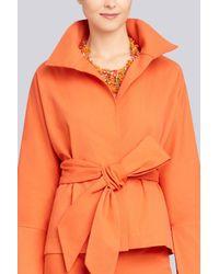 Natori - Orange Josie Beaded Bib Necklace - Cayenne - Lyst