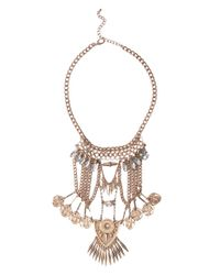 AKIRA - Metallic Bazaar Necklace Coin Earring Set - Lyst