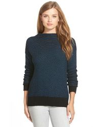 Caslon - Blue Funnel Neck Sweater - Lyst
