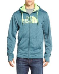 The North Face - Blue 'surgent Half Dome' Full Zip Hoodie for Men - Lyst
