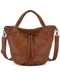 The Sak | Brown Mateo Leather Drawstring Bag | Lyst