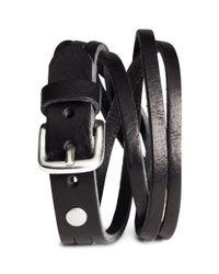 H&M - Black Leather Bracelet for Men - Lyst
