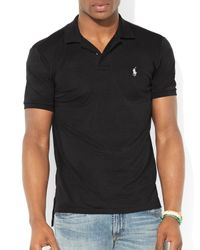 Ralph Lauren - Black Polo Performance Mesh Polo Shirt - Slim Fit for Men - Lyst