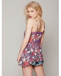 Free People - Multicolor Printed Petal Blooms Cami - Lyst