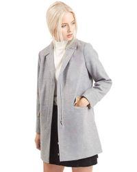 TOPSHOP | Gray 'mia' Coat | Lyst