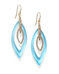 Alexis Bittar | Blue Lucite Crystal Marquis Orbital Drop Earrings | Lyst