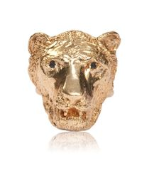 Dominique Lucas - Metallic Lion Ring Yellow Gold - Lyst