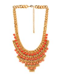 Forever 21 | Pink Beaded Babe Bib Necklace | Lyst