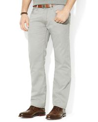 Ralph Lauren - Gray Polo Straight 5-Pocket Chino Pant - Classic Fit for Men - Lyst
