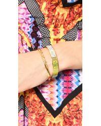 kate spade new york - Metallic Cha Cha Cha Cuff Bracelet Gold - Lyst