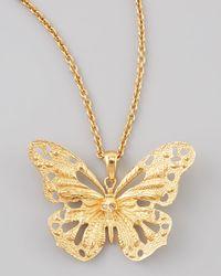 Alexander McQueen | Metallic Butterfly Pendant Necklace | Lyst