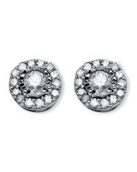 Palmbeach Jewelry - Metallic .26 Tcw Round Diamond 10k White Gold Stud Cluster Earrings - Lyst